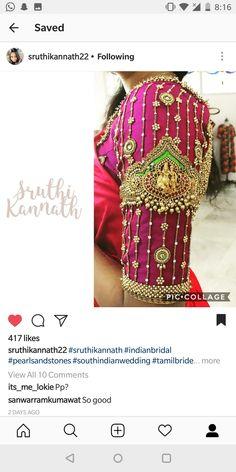 Kerala Saree Blouse Designs, Saree Jacket Designs, Stylish Blouse Design, Designer Blouse Patterns, Fancy Blouse Designs, Bridal Blouse Designs, Traditional Sleeve, Work Blouse, Sleeve Designs