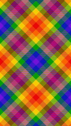 Checker Wallpaper, Plaid Wallpaper, Colorful Wallpaper, Pattern Wallpaper, Colorful Backgrounds, Rainbow Art, Rainbow Colors, Vibrant Colors, Background Pictures