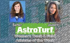 UAH's Barber, NSU's Joubert Named Women's Track & Field AstroTurf Athletes of the Week