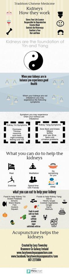How The Kidneys Work According To Chinese Medicine | Piktochart Infographic Editor #ChineseMedicineKidney