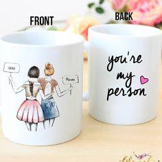 Personalizados el mejor regalo de amigo, - eres mi café de persona - singular amistad regalo, BFF, mejor regalo de cumpleaños amigo, taza, regalo de Navidad