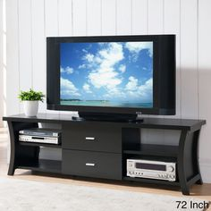 Furniture of America Danbury Modern 2 drawer Cappuccino TV Console