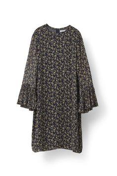 Bartlett Georgette Mini Dress, Eclipse Miniature Roses