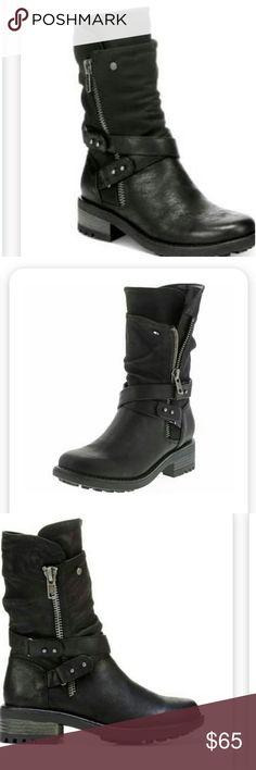Carlos by Carlos Santana Sawyer Boots. Worn twice. Black Moto Boots Carlos Santana Shoes Combat & Moto Boots