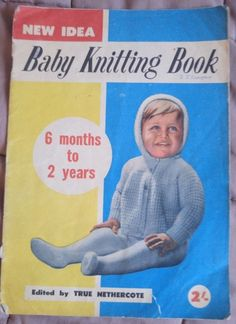 New idea  Baby Knitting Book 6 months-2 years vintage knitting pattern #NewIdea