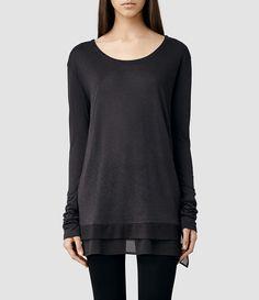 Womens Miro Long Sleeved T-shirt (Cinder) - product_image_alt_text_1