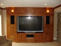 We create hand-crafted entertainment centers and wall units custom designed for today's technology, and built to accommodate all the latest in televisions and other. Description from rejigdesign.com. I searched for this on bing.com/images