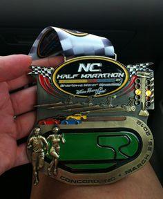 NC Half Marathon Medal - 2012 - Charlotte NC
