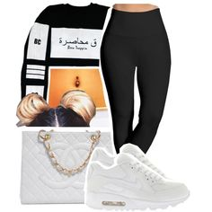 1003 by ashley-mundoe on Polyvore featuring Lyssé Leggings, Chanel and NIKE