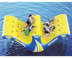 10 Person Water Totter lets you rock and sway with the waves