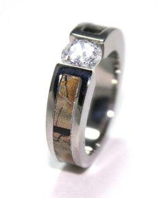 camo diamond wedding rings for her #5