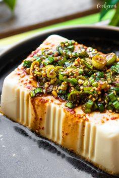 5-Minute Korean Silken Tofu - Cookerru Korean Tofu Recipes, Mexican Food Recipes, Vegetarian Recipes, Healthy Recipes, Banchan Recipe, Silken Tofu Recipes, Tofu Dishes, Vegan Kitchen, Side Dishes Easy