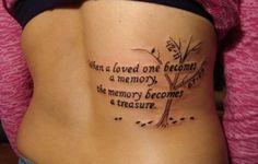 small memorial tattoo