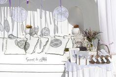 Setting up for Natasha and Andrei's Vintage Lavender Wedding in Santorini Dana Villas, Garnet Wedding, Santorini Wedding, Wedding Details, Wedding Venues, Lavender, Dream Wedding, Table Decorations, Color
