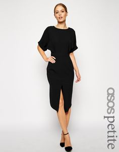 Wiggle Dress with Wrap Back & Split Front
