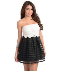 Instantly turn heads in this cute as can be strapless baby doll dress * 100% Polyester * Fully Lined