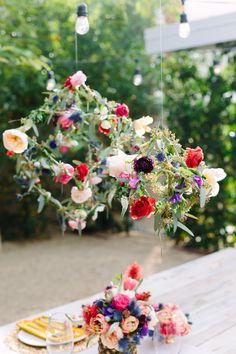 DIY // Geometric Floral Pendants