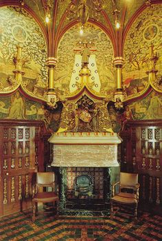Cardiff Castle  Interior  Designed By William Burges  from Arts & Crafts Home