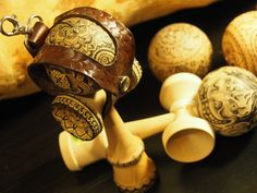 Leather work with Kendama by Powah