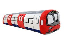 Give your home a touch of British charm with this iconic London Underground train 3D cushion. Sumptuously soft, this cushion is perfect for adding a focal feature to beds and sofas alike. Ultimate softness guaranteed! Beautifully crafted and come with features including destination and logos. Length: 80cm (you can fit two of these across a double bed or one across a single bed) Officially Licensed by Transport for London.