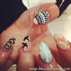 mixed 1 nail art