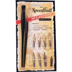Speedball Art Products Speedball Calligraphy No-1/2 Artists Project Set: Amazon.co.uk: Kitchen & Home