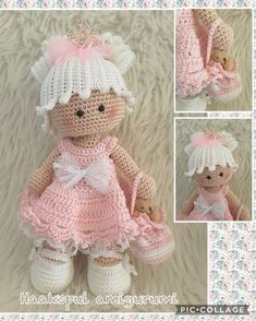 """Annabelle met """"back to school"""" outfit Patroon Adrienne Verstraten - Salvabrani Amigurumi crochet DOLL Gorgeous Sweet Pea flower fairy with - Salvabrani Risultati immagini per Cubby Amigurumi nativity Handmade Dolls Cotton Made with love from Spain - S Crochet Dolls Free Patterns, Crochet Doll Pattern, Amigurumi Patterns, Doll Patterns, Cute Crochet, Crochet Crafts, Crochet Baby, Crochet Projects, Diy Crafts"""