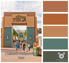 Here are the colors hues of the Animation Courtyard Sign in the Disney's Hollywood Studios at Walt Disney World.