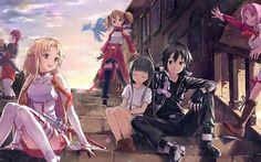 Here is another lovely sword art online anime wallpaper. Boys Anime, M Anime, Kirito Asuna, Sword Art Online Kirito, Sword Art Online Pc, Arte Online, Online Art, Anime Sword, Sao Characters