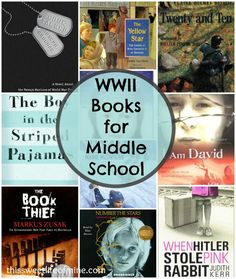 WWII Books for Middle School   thissweetlifeofmine.com
