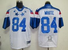 White White Jerseys $19.99 This jersey belongs to White, Atlanta Falcons #84  Color: white, Size: M, L, XL, XXL, XXXL  The jersey is made of heavy fabric with nylon diamond weave mesh
