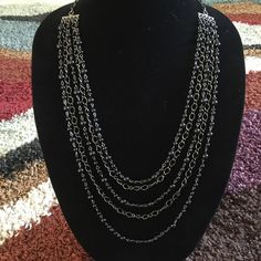Necklace Amazing hand made multi strand necklace set with black beads. Basic Sophistication Jewelry Necklaces