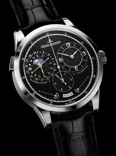 Jaeger-LeCoultre Duomètre à Quantième Lunaire.  www.ChronoSales.com for all your luxury watch needs, sign up for our free newsletter, the new way to buy and sell luxury watches on the internet. #ChronoSales