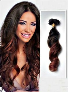 dark brown to auburn ombre maybe