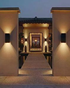 Chinese villa door landscape design