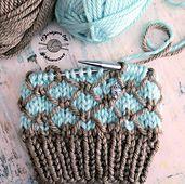 Knitting patterns cowl sock yarn ideas for 2019 Chunky Knitting Patterns, Knitting Stiches, Loom Knitting, Knitting Designs, Knit Patterns, Knitting Projects, Crochet Projects, Hand Knitting, Bag Crochet