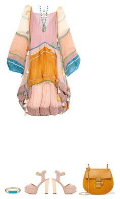 """Dress - CHLOE"" by fashionmonkey1 ❤ liked on Polyvore featuring Chloé, Giuseppe Zanotti and Henri Bendel"