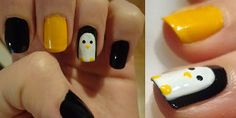 check it out! Penguin Love, Cute Penguins, My Little Beauty, My Beauty, Manicure, Nails, Check, Life, Nail Bar