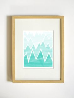 Geometric Mountain Range Art Print  //  Retro Menagerie