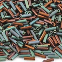 Quality Seed Beads manufactured By Miyuki Co. Size: Bugle Color: 07 Earthtone Mix Plastic Tube Measures: x You will receive-one 12 gram tube of size Bugle Beads. Beads And Wire, Metal Beads, Bugle Beads, Seed Beads, Beading Supplies, Jewelry Supplies, Beads Online, Diy Jewelry Findings, Perler Bead Art