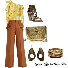 70's inspiration by Silvia Ramilli - A Pinch of Ginger Spice