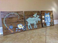 Moose decor 20x20,Pallet Art,Rustic wall art,On Pallets,nursery art,wild life,outdoors,nature,children art,log cabin decor,Boy art,kids room
