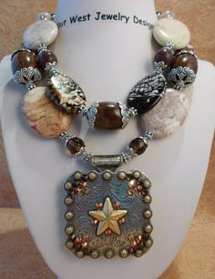 Cowgirl Necklace Set  Chunky Fire Agate and by Outwestjewelry, $58.95
