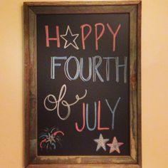 Happy 4th of July!  Chalkboard art