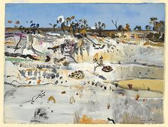 Fred WILLIAMS, (Sand quarry, Emita IV, Flinders Island) Fred Williams, Seascape Paintings, Australian Artists, Tasmania, Vintage World Maps, Island, Landscape, Awesome, Artwork