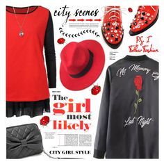 """Red and Black"" by katjuncica ❤ liked on Polyvore featuring redandblack"
