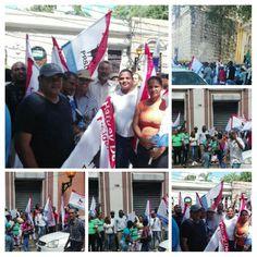 Julio Decamps en la Iglesia de Las Mercedes junto a los compañeros de Bocachica