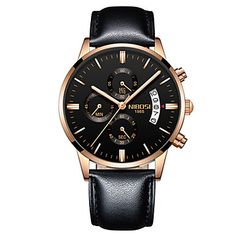 cd06f33ca35  €34.99  Homens Relógio de Pulso Quartzo Aço Inoxidável Preta   Azul    Marrom 30 m Impermeável Calendário Cronógrafo Analógico-Digital Luxo  Clássico Casual ...