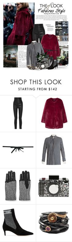 """""""The Look Of Fabulous Style"""" by thewondersoffashion ❤ liked on Polyvore featuring Haider Ackermann, MANGO, N°21, Preen, Y-3, Karl Lagerfeld, Fendi, Boaz Kashi and Karen Walker"""