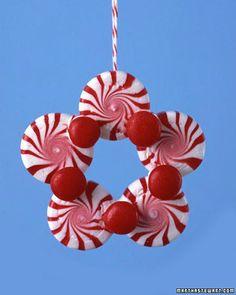 For your tree! (I have one tree decorated with candy ornaments - this would fit right in! For your tree! (I have one tree decorated with candy ornaments - this would fit right in! Christmas Crafts For Kids, Diy Christmas Ornaments, Simple Christmas, Christmas Projects, Handmade Christmas, Holiday Crafts, Christmas Holidays, Christmas Gifts, Christmas Decorations